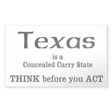 Texas Concealed Carry Decal