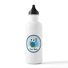 Funny Cute Blue Owl Water Bottle