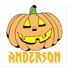 Personalized Halloween 5.25 x 5.25 Flat Cards