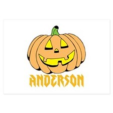 Personalized Halloween 3.5 x 5 Flat Cards