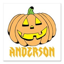 """Personalized Halloween Square Car Magnet 3"""" x 3"""""""