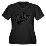Trike tshirt Triker Women's Plus Size V-Neck Dark