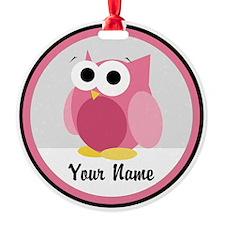 Funny Cute Pink Owl Ornament