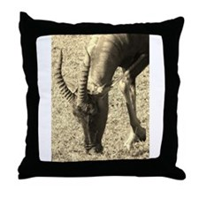 sepia topi grazing Throw Pillow