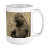 sepia thoughtful baboon Mug