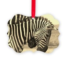 sepia zebras play kenya collection Ornament