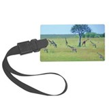 Giraffe Meadow Large Luggage Tag