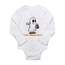 Personalized Halloween Long Sleeve Infant Bodysuit