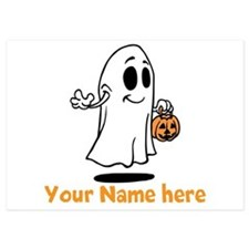 Personalized Halloween 5x7 Flat Cards