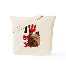 I Love My Yorkie Tote Bag