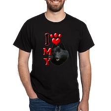 I Love My Schipperke.png T-Shirt