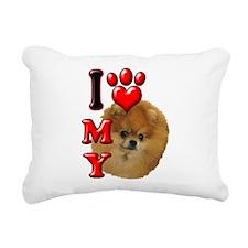 I Love My Pomeranian.png Rectangular Canvas Pillow