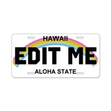 Hawaii Aloha State - Rainbow license plate replica