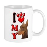 I Love My Doberman 2.png Small Mug