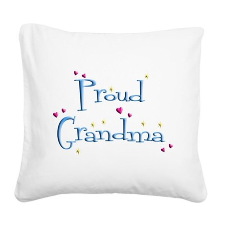 Proud Grandma Square Canvas Pillow