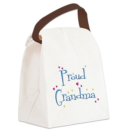 Proud Grandma Canvas Lunch Bag