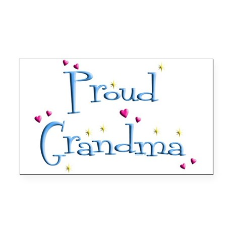 Proud Grandma Rectangle Car Magnet