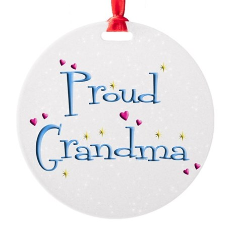 Proud Grandma Round Ornament