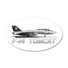 F14 Tomcat 20x12 Oval Wall Decal