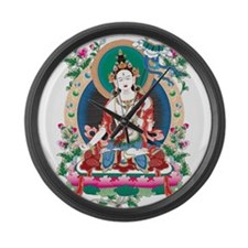 Oriental Art Large Wall Clock