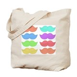 Rainbow Mustaches Tote Bag