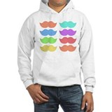 Rainbow Mustaches Jumper Hoody