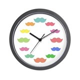 Mustache clock Wall Clock