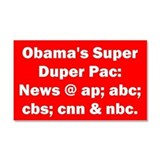 Obama's PAC Car Magnet 20 x 12
