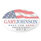 Gary Johnson Oval Sticker 1 Decal