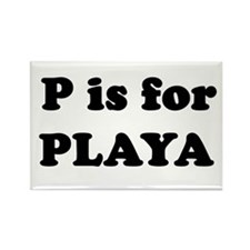 P is for PLAYA Rectangle Magnet