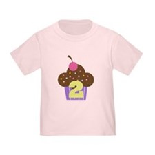2nd Birthday Cupcake T