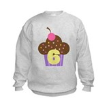 6th Birthday Cupcake Sweatshirt