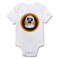 Cute Angry Ghost Orange Infant Bodysuit