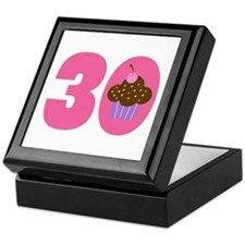 30th Birthday Cupcake Keepsake Box