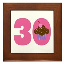 30th Birthday Cupcake Framed Tile