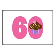 60th Birthday Cupcake Banner