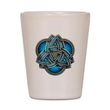 Blue Celtic Triquetra Shot Glass