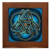 Blue Celtic Triquetra Framed Tile