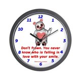 Don't Frown Wall Clock
