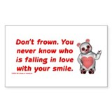 Don't Frown Rectangle Decal