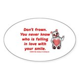 Don't Frown Oval Decal