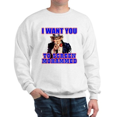 Screen Mohammed Not Grandma Sweatshirt