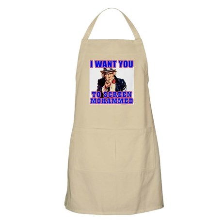 Screen Mohammed Not Grandma BBQ Apron