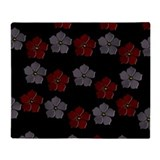 Floral 1 reversible Throw Blanket