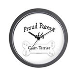 Proud Parent of a Cairn Terrier Wall Clock