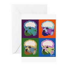 Dandie Dinmont a la Warhol Greeting Cards (Pk of 2