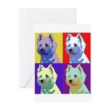 Westie a la Warhol! Greeting Card
