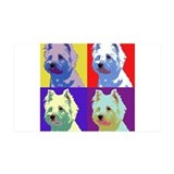 Westie a la Warhol! Wall Decal