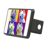 Westie a la Warhol! Rectangular Hitch Cover
