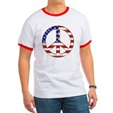 American Flag Peace Sign T-Shirt